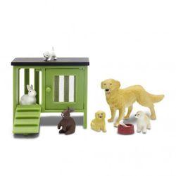 Accessoires-maison-de-poupee-kit-animaux-familiers